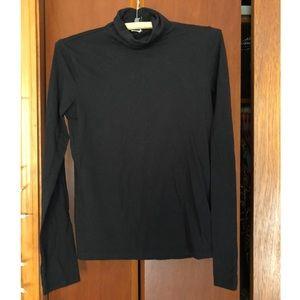 F21 Black Cotton Turtleneck